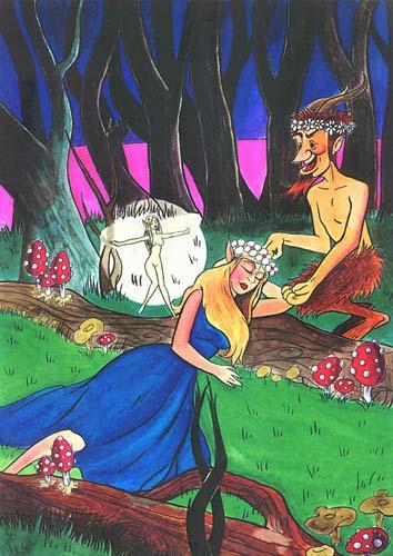 """Ilustración: Titania ( """"Sueño de una Noche de Verano"""")"""
