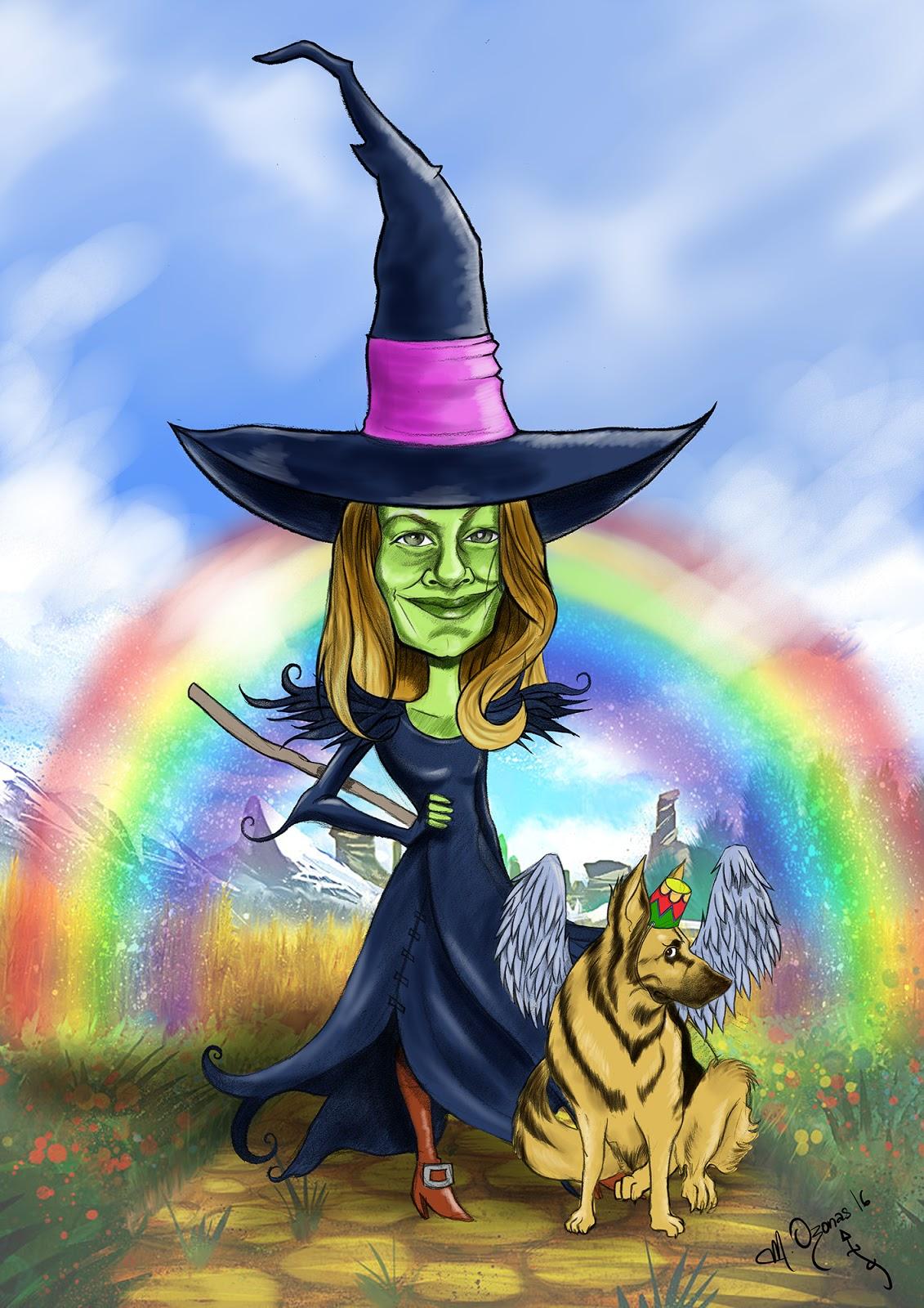 """Caricatura """"Agata de Oz"""" (y Uaxac)"""