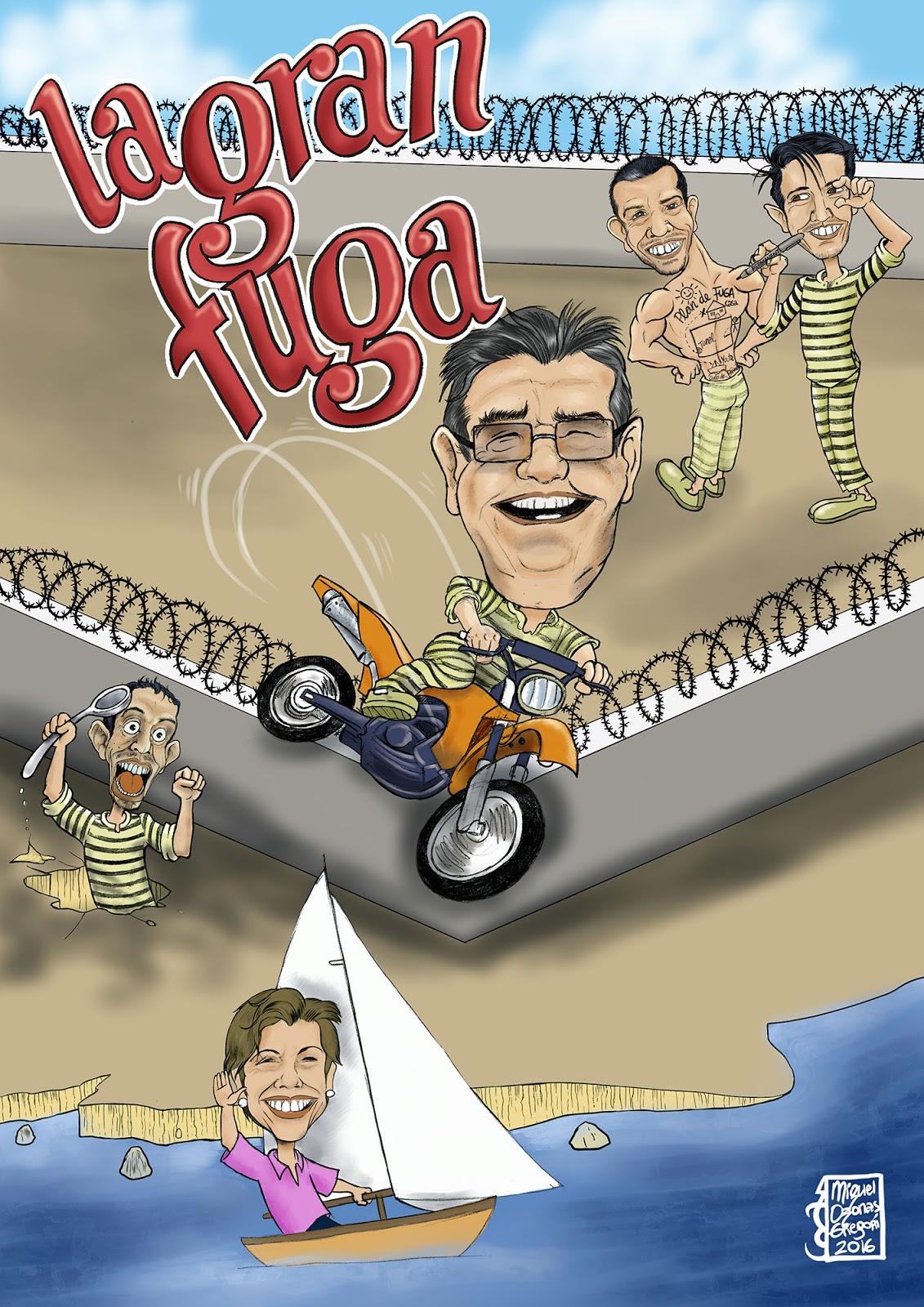 """Caricatura """"La Gran Fuga"""""""