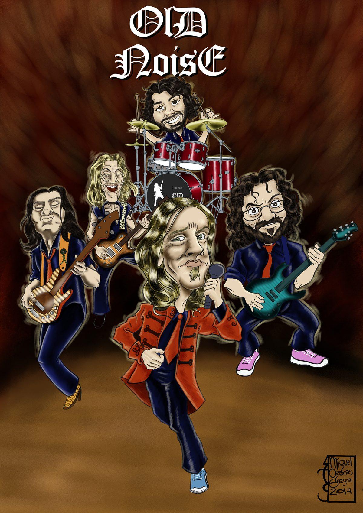 Caricatura del Grupo de Rock «OLD NOISE»